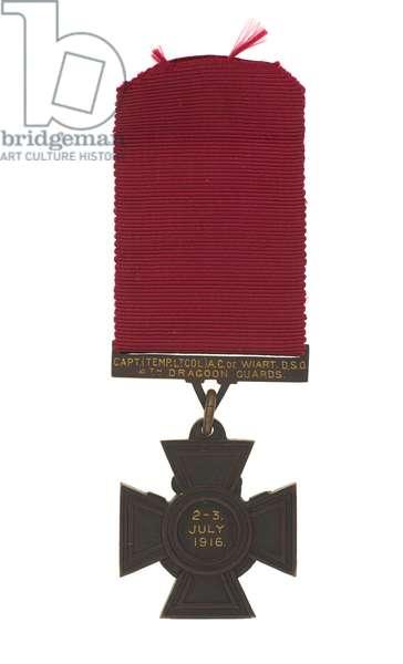 Victoria Cross awarded to Lieutenant-Colonel Adrian Carton de Wiart, 1916 (metal)