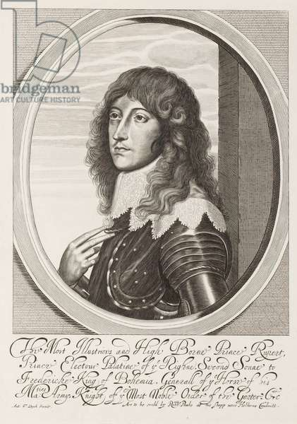 'The Most Illustrious and High Borne Prince Rupert', 1640 circa (line engraving)