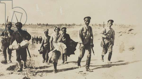 The Armenians instead of holding on to the Binagardy position fled at the first attac, 1918 (b/w photo)