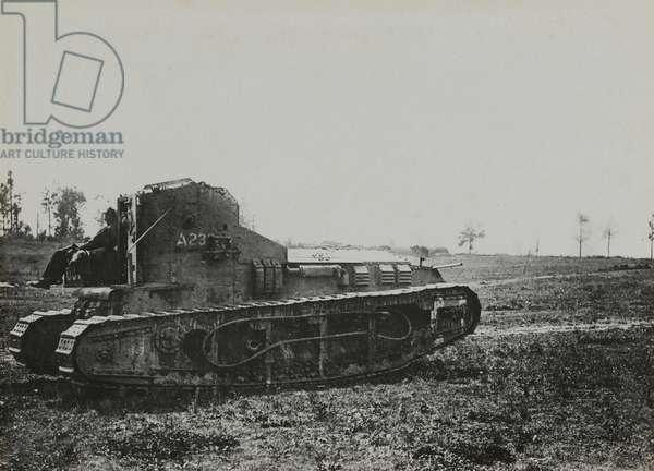 British Whippet tank, 1918 (b/w photo)