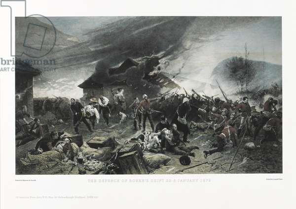 The Defence of Rorke's Drift, 22 January 1879 (photolithograph)