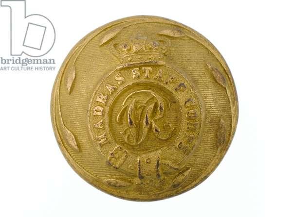 Button, Madras Staff Corps, 1861-1876. (gilt)
