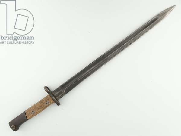 Yugoslavian manufactured bayonet for the M1924 Mauser rifle, 1999 circa (metal)