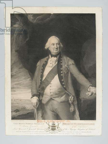 'The most noble Charles Marquis Cornwallis, Master General of the Ordnance, Lieutenant General, General Governor of Ireland', circa 1798 (stipple engraving)