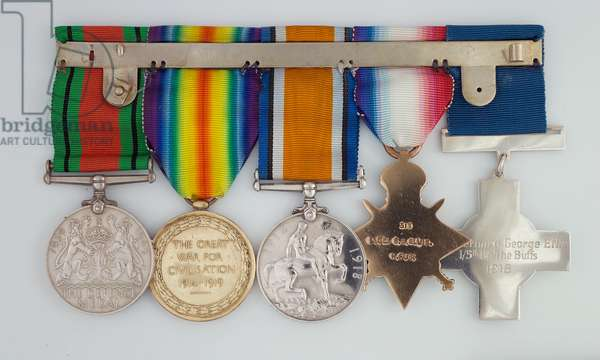 George Cross medal group awarded to Lieutenant Bernard Ellis, 1/5th Battalion, The Buffs (East Kent Regiment) (metal)