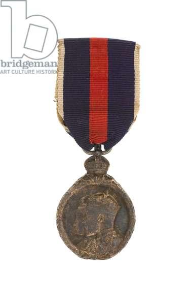 King Edward VII Coronation Medal 1902, Captain John Grant Malcolmson VC, 3rd Regiment of Bombay Light Cavalry (metal)