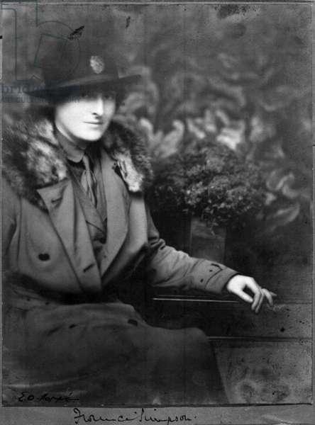 Portrait of Dame Florence Simpson (formerly Leach), Chief Controller of the Queen Mary's Army Auxiliary Corps. (b/w photo)