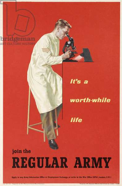 'It's a worth-while life, join the Regular Army', 1960 (colour litho)