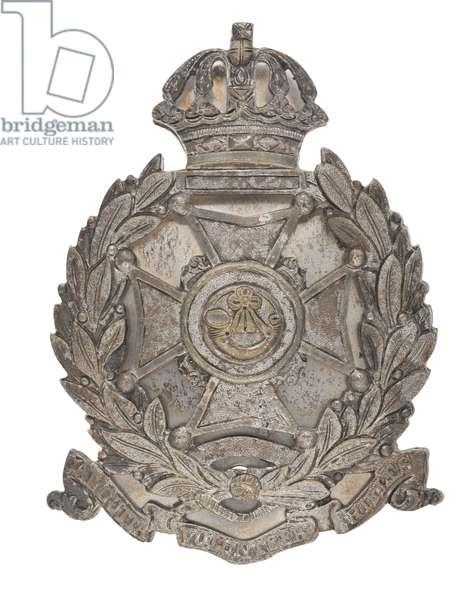 Pouch belt plate, Calcutta Volunteer Rifles, 1863-1901 (metal)
