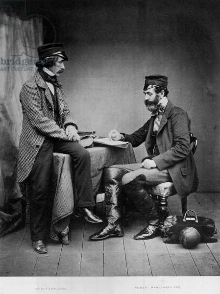 Dr Sutherland and Robert Rawlinson, 1855 (b/w photo)