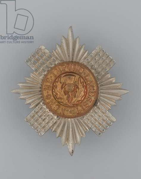 Cap badge, c.1896-1920 (metal)