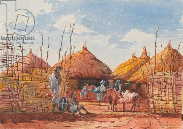 The Prison, Magdala, 1868 (w/c)