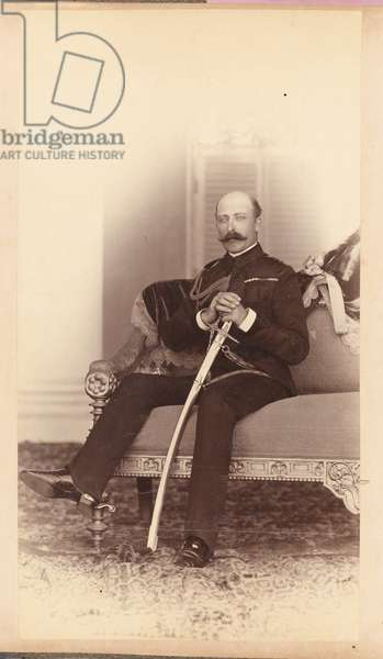 HRH Prince Arthur, Duke of Connaught and Strathearn, 1890 circa (b/w photo)