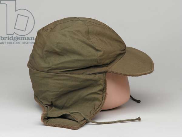 United States Army cold weather pile cap, 1950 circa (wool)