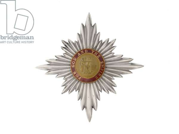 Order of the British Empire, Dame Commander Star awarded to Dame Florence Leach, Controller in Chief, Queen Mary's Army Auxiliary Corps.  (metal)