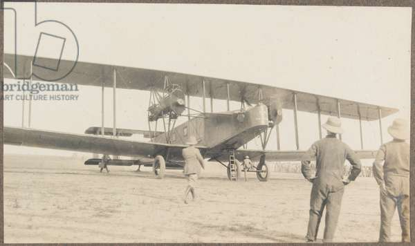 'The arrival of Handley Page aircraft at Delhi', 1919 (b/w photo)