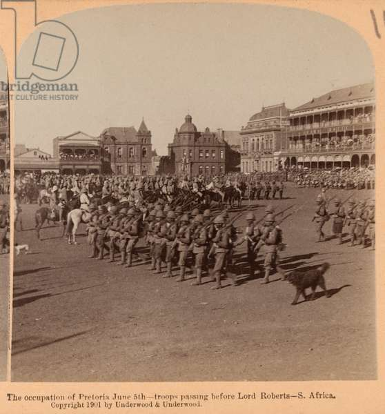 The occupation of Pretoria, South Africa, 1899 (b/w photo)