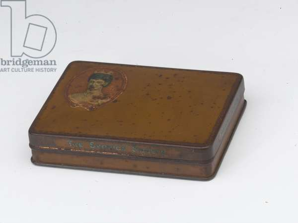 Princess Alexandra's gift box sent to an unknown soldier of the Royal Munster Fusiliers, 1900 (brass)