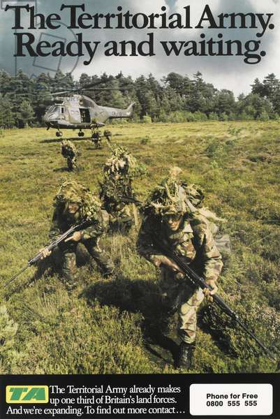 The Territorial Army: Ready and waiting, 1987 (colour litho)