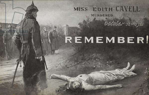 Postcard depicting Edith Cavell, 1916 (litho)