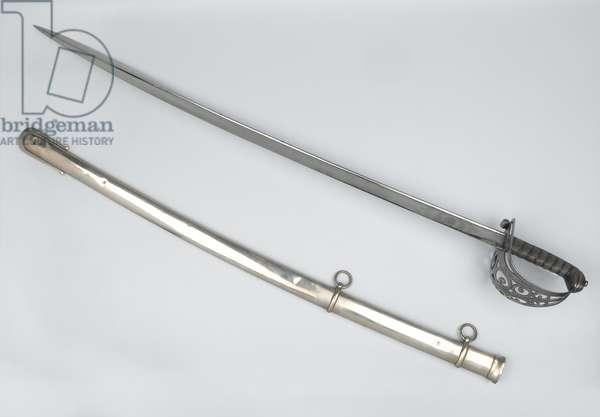 Indian Army Officer's sword belonging to Lieutenant Malcolm Scrimshaw Green, Sind Irregular Horse, 1845 circa (metal)
