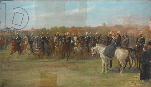 The Shanghai Volunteers at a Review, 1892 (oil on canvas)