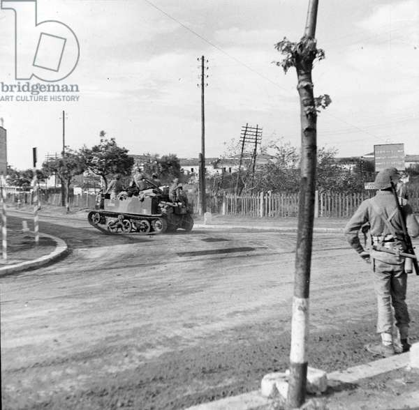 The strategically important Pescara-Termoli road junction after attempts by the Germans to retake it, October 1943 (lantern slide)