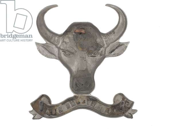 Helmet badge, Coorg and Mysore Rifles, 1884-1917 (metal)