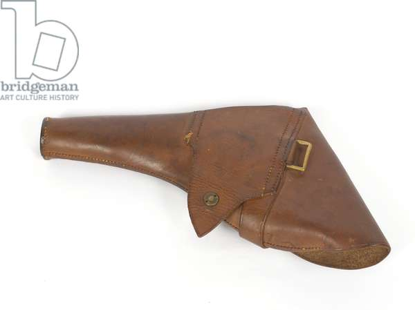 Holster for a Smith and Wesson .44 inch calibre revolver given to Captain Lionel Gray by Lieutenant-Colonel T E Lawrence, 1918 circa (leather)