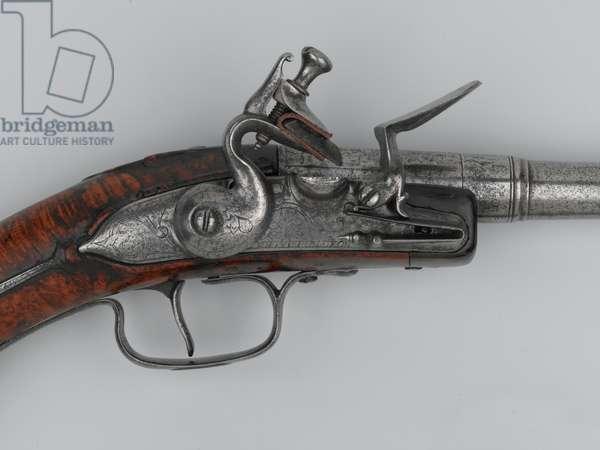 Flintlock rifled pistol, 1645 circa-1660