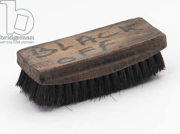 Polishing 'black on' brush used by Private Anthony William Parker, Army Catering Corps, 1958-1960 (brush, polish)