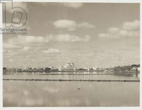 View of Benghazi, Libya, one of seven photographs of views of Benghazi Cathedral and its interior, taken by Pte Ken Hardy, 1942. (b/w photo)