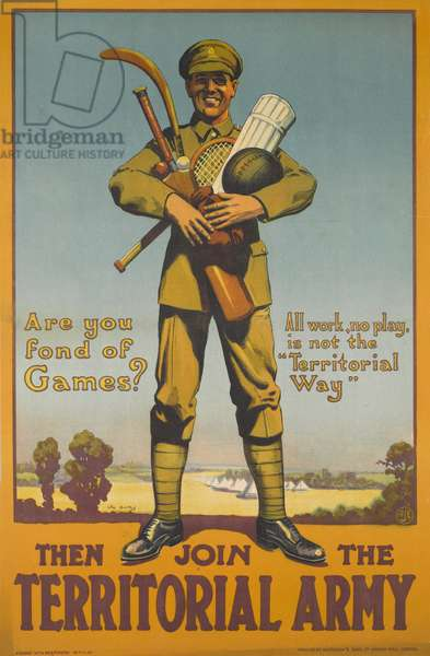 Are You Fond of Games? 1919-20 (colour litho)