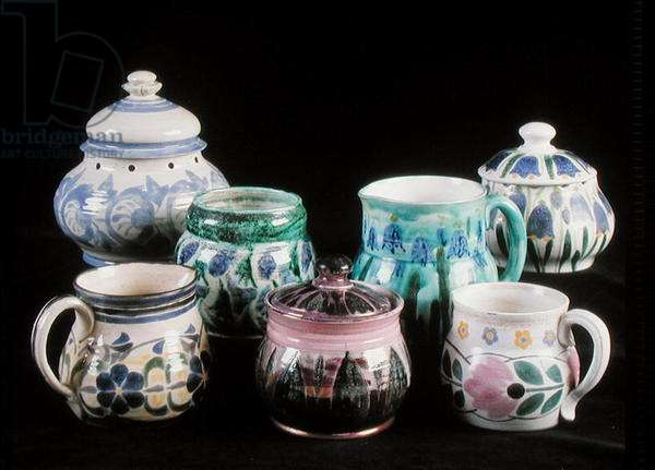 Pots, jugs and bowls produced by the Lamorna Pottery (ceramic)