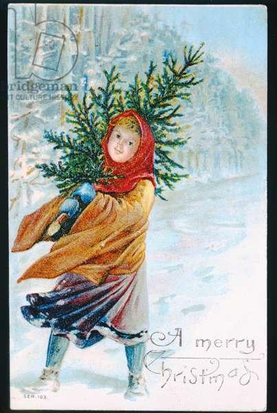 """A Merry Christmas"", Victorian card"