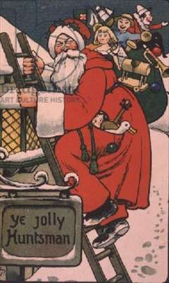 """Ye Jolly Huntsman"", Victorian card"