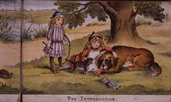 The Introduction, page from a children's book, 19th century