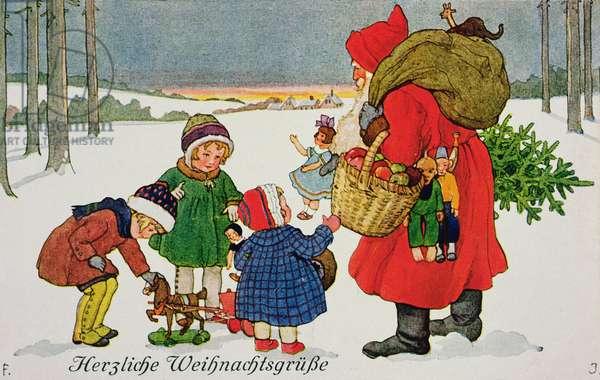 'Herzliche Weihnachtsgrusse', 19th century card