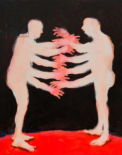 Lovers, 2014 (oil on linen)
