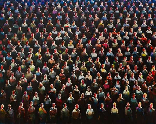 Audience, 2013, (oil on linen)