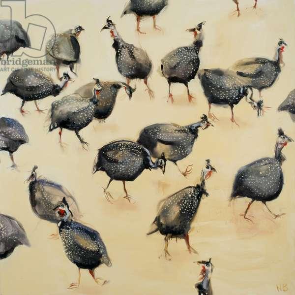 Guinea Fowl, 2007 (oil on linen)