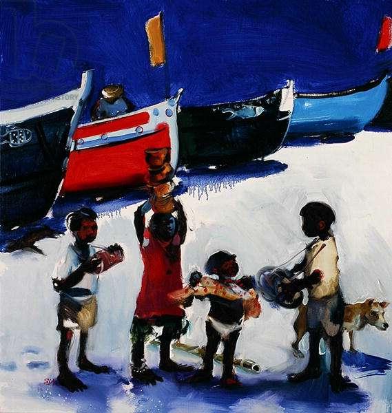 Acrobat Children on the Beach, 2006 (oil on canvas)