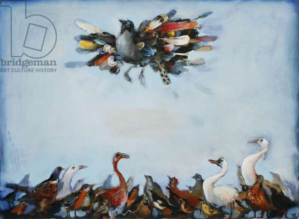 King of the Birds, 2007 (oil on paper)