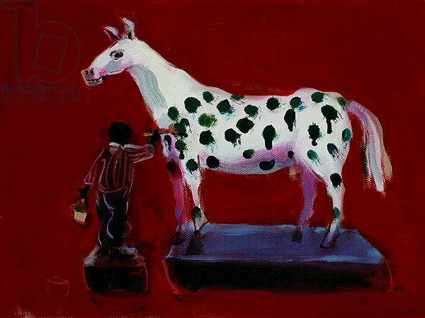 Painting a Horse, 2006 (oil on board)