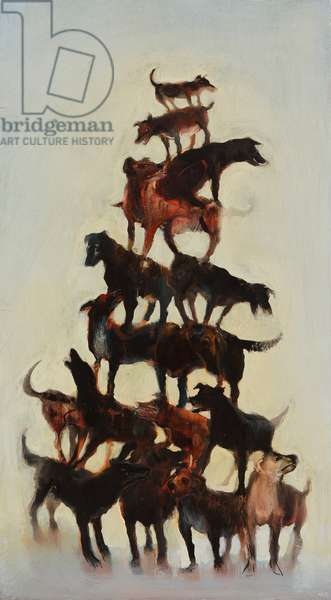 Dog Tower, 2011 (oil on board)