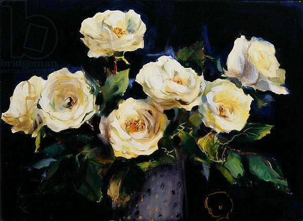 White Roses (with 2 Boys), 2006 (oil on canvas)