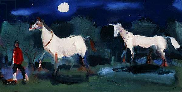 A Fat Horse + a Thin Horse, 2006 (oil on board)