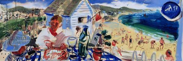 Lobster at St Ives, 2006 (oil on board)