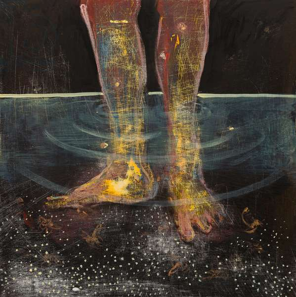 Itchy feet, 2014, (oil on wood)