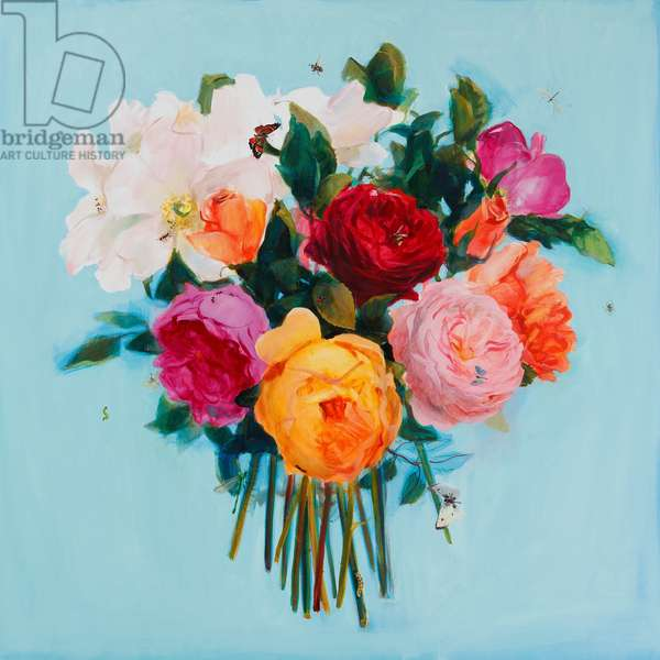 Summer roses, 2013, (oil on linen)